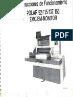 Instrucciones de Funcionamiento Polar 92 115 137 155 Emc Em Monitor Ordenado