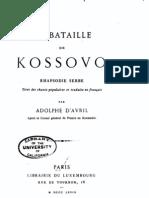 La bataille de Kossovo