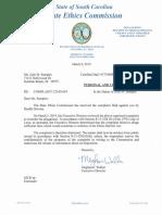 Randle Stevens Ethics Letter