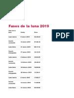 ACTUALIZADO Fases de La Luna 2019