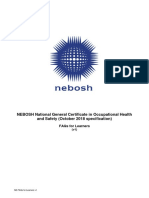 Nebosh new IG 2019