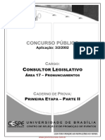 Prova Consultor Legislativo
