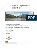Environmental Degradation and Disaster Risk