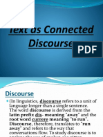 1. Text as Connected Discourse