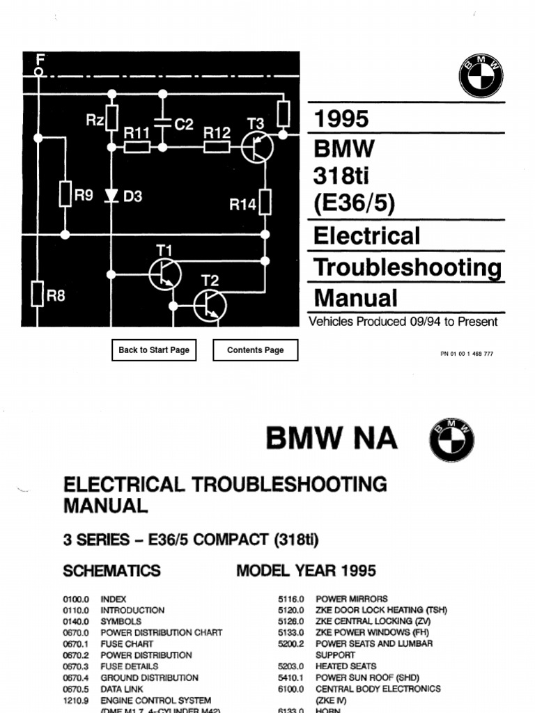 Bmw 318ti Compact Wiring Diagram Electrical Diagrams E36 Central Locking 1995 Troubleshooting Manual Snap On Parts