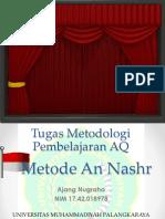 Tugas Metodologi AQ Ajang Nugraha