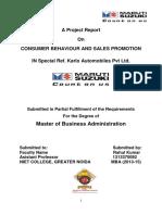 Consumer Behaviour and Sales Promotion Maruti Marketing Niet