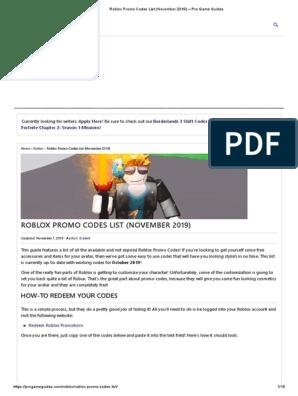 Big Head Promo Code Roblox Robux Promo Code List - Roblox Promo Codes List November 2019 Pro Game Guides Pdf