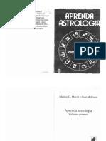 Aprenda Astrología Vol. 1 Principios Básicos Marion D. March y Joan McEvers