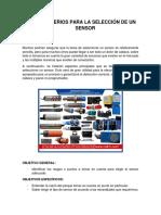 2.8 Criterios Para La Selección de Un Sensor