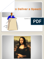 Delivery Public Speaking