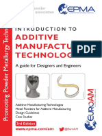 Epma Introduction to Additive Manufacturing Technology Third Edition