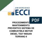 Sistema de Combustible Motor TD27