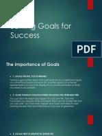 Setting Goals for Success Presentation