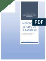 el metodo del estudio de la kabbalah
