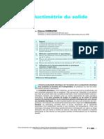 p1300 Thermoconductimétrie Du Solide