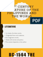 21st Century Literature of the Philippines and the World (Pre-Colonial Era)