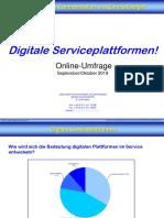 Digitale Serviceplattformen