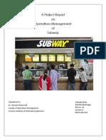 Transformation process at Subway