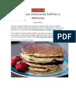 Receita - Panquecas Americanas Fofinhas e Deliciosas
