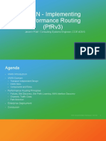 IWAN - Implementing Performance Routing PfRv3 - Jaromir Pilar Cisco