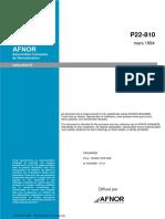 NF P22-810