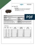 Ball Valve 375 Datasheet English