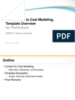 Cost Modeling & Template Intro 20140210