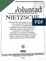 La Voluntad, Nietzsche