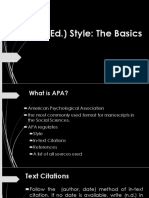 The Basics of APA Style for Action Research