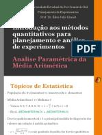 Est01 V00 Análise Paramétrica