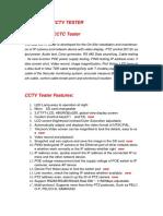 Manual Tester CCTV T-2601