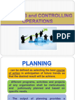 Planning Controlling Operations