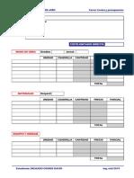 formatos para costos