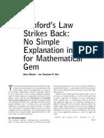Benford's Law Strikes Back
