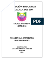 Guia Cuatro de Castellano Decimo 2012 PDF