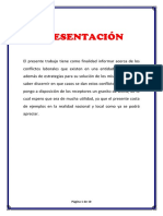 Conflicto Laboral Informe - Prof Hans