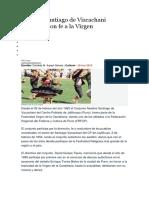 Awatiris Santiago de Vizcachani Danzarán Con Fe a La Virgen