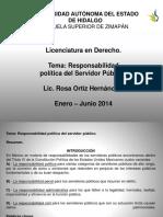 Responsabilidad Politica Del Servidor Publico