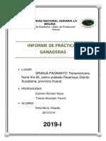 INFORME PRACTICAS GANADERAS