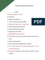 Cuestionario Sistema de Frenos Abs