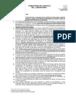 CONDICIONES DE SERVICIO DE LABORATORIO SAG