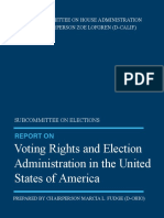 SUBCOMMITTEE ON ELECTIONS PREPARED BY CHAIRPERSON MARCIA L. FUDGE (D-OHIO) REPORT ON Voting Rights and Election Administration in the United States of America