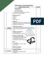 Especificaciones Tecnicas de EPPs