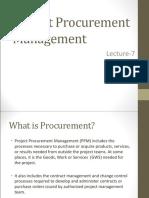 Lecture 7 Procurement