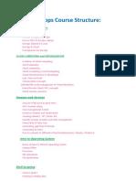 DevOps Course Content