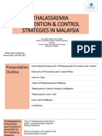 MOH Strategies for Thalassaemia Control Programme in Malaysia (SHARE)