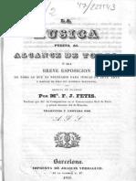 F-J. Fétis, La Música Puesta Al Alcance de Todos, o Sea, Breve Esposición de Todo (Trad. 1840)
