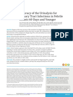 Efficacy of urinalysis for UTI in febrile child 60 days and younger