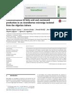 Grama2014. Characterization of Fatty Acid and Carotenoid Production in an Acutodesmus Microalga Isolated From the Algerian Sahara